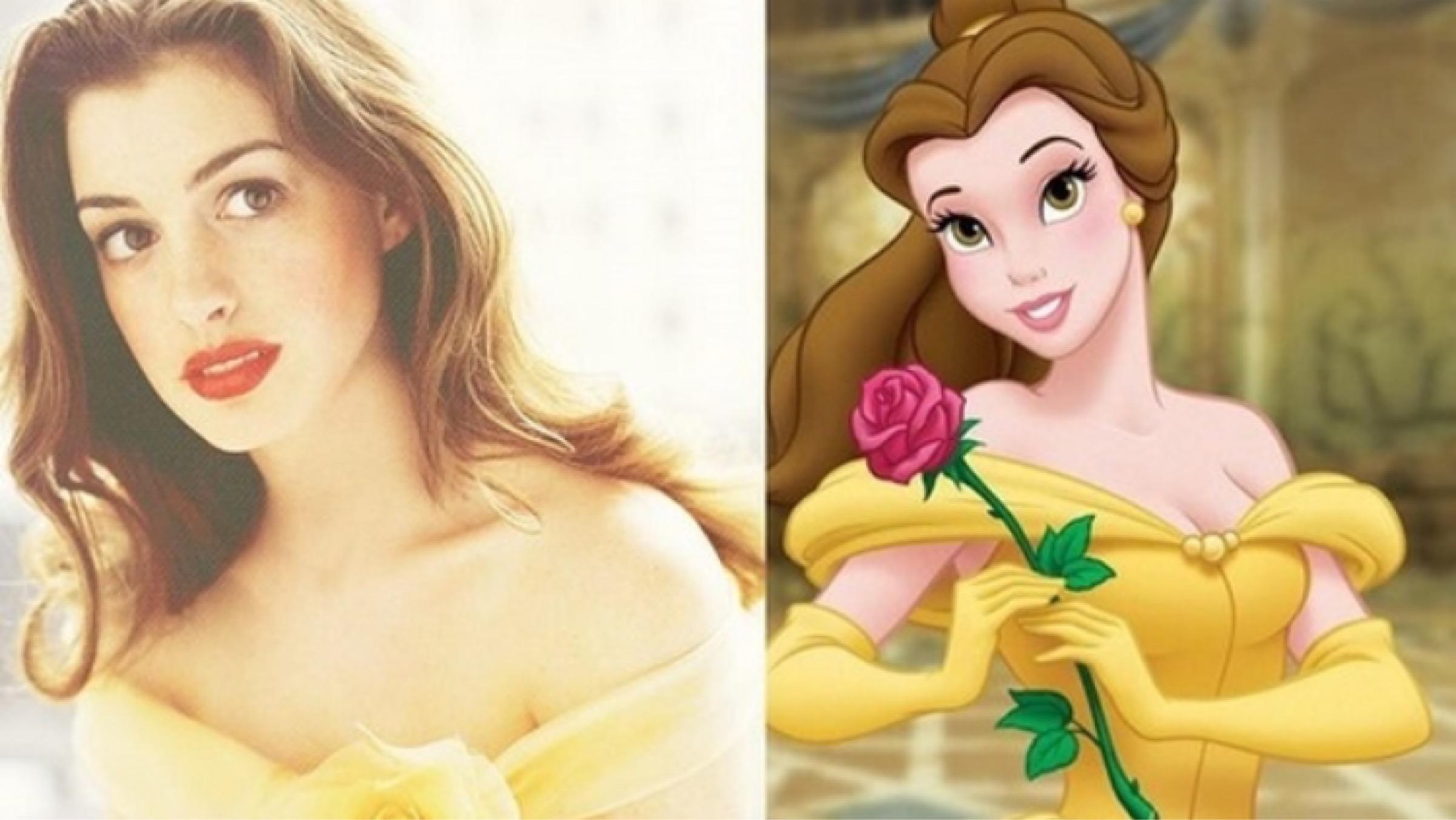 real life disney princesses celebrity lookalikes
